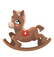 a toy horse for children a cartoon horse vector image vector image