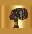 afro hairstyle beautiful portrait african woman vector image vector image