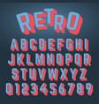 alphabet font retro design vector image