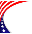 american flag decorative holiday banner frame vector image vector image