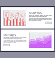 analytics and statistics pages vector image vector image