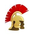 ancient warrior helmet vector image