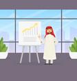 arab businessman making presentation explaining vector image vector image