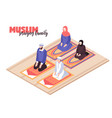 arab people praying vector image vector image