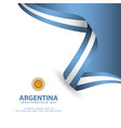 argentina independence day template design vector image