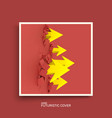 arrows reaching out from a crack leadership vector image vector image
