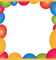 balloons birthday decoration vector image vector image