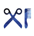 barbershop icon Abstract Triangle vector image
