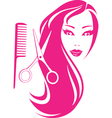 Beautiful girl with scissors and comb vector | Price: 1 Credit (USD $1)