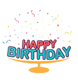 Birthday decoration background vector image
