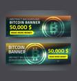 bitcoin banner set vector image