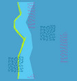 blue river stitch flow stream seamless pattern vector image vector image