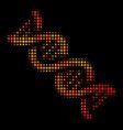 bright dot dna spiral icon vector image vector image