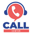 call center support for clients and customers vector image vector image