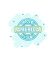 cartoon colored made in america icon in comic vector image vector image