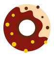 chocolate donut icon isolated vector image vector image