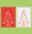 christmas and new year leaflet vector image vector image