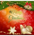 Christmas background with gold baubles EPS 10 vector image vector image