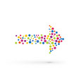 colorful arrows from small dots vector image