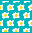 colorful seamless pattern with fried egg vector image vector image
