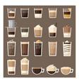 delicious coffee to taste vector image