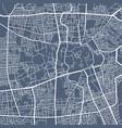 detailed map sanaa city linear print map vector image