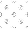 earth planet pattern seamless vector image vector image