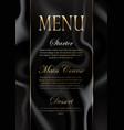 elegant marble texture menu design vector image vector image