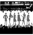 fashion podium silhouette vector image vector image