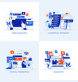flat designed conceptual icons 5 vector image