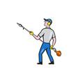 Gardener Hedge Trimmer Isolated Cartoon vector image vector image