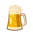 Glass mug with beer icon cartoon style vector image vector image