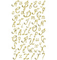 Gold alphabet with diamonds and gems letters YZ vector image vector image