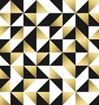 Gold seamless pattern with triangles and squares vector image