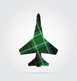 green black tartan isolated icon - fighter vector image vector image