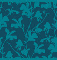 green floral background with branch and magnolia vector image vector image