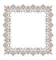 Gypsy ornamental frame square border vector image vector image