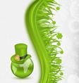 Hat around Globe on St Patricks Day vector image vector image