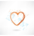 Heart grunge icon vector image vector image