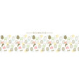horizontal seamless border with easter eggs vector image vector image