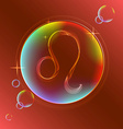 Horoscope abstract color sign of the zodiac - Leo vector image vector image
