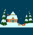 house of santa claus vector image vector image
