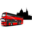 london double decker sightseeing red bus vector image vector image