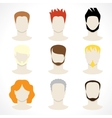 mens hairstyles vector image