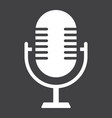 microphone solid icon studio and sound vector image vector image