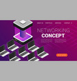modern cloud technology and networking concept vector image vector image