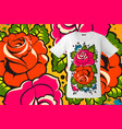 modern t-shirt design with floral print in vector image