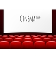 movie theater with row red seats premiere vector image