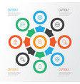 network icons set collection of exit refuse vector image vector image