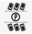 Parking lot design Park icon White background vector image vector image